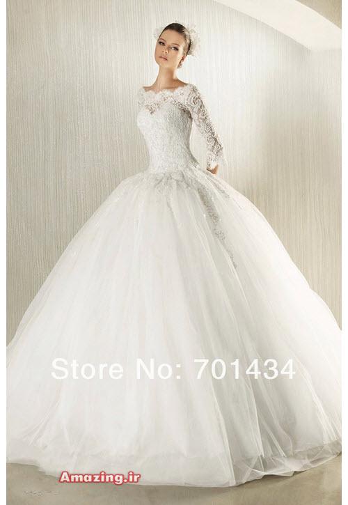 لباس عروس 94 , لباس عروس اسکارلت پفی , لباس عروس ماهی ,مدل لباس عروس ترک