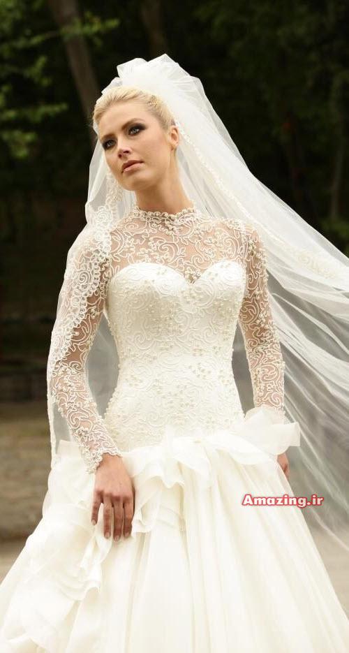 مدل های لباس عروس ترکی و اسکارلت پفی
