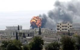 باران شدید بمبهای داعش را منفجر کرد