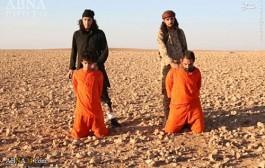 عکس های سر بریدن دو مرد سوری توسط داعش