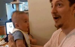 نوزاد سه ماهه ای که حرف می زند! عکس