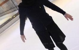 عکس بازیگران زن ایرانی در حال اسکی روی یخ