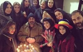 حجاب بازیگران زن در تولد رضا عطاران