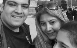 سلفی لادن طباطبایی در کنار همسر و دخترش