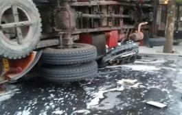 حادثه دلخراش تصادف اتوبوس دانشگاه نجف آباد
