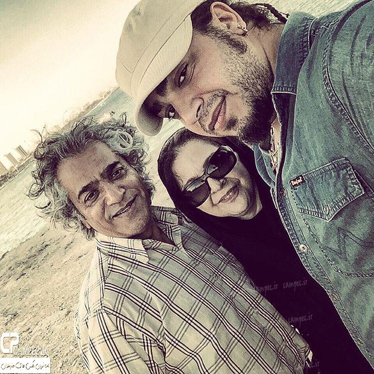 عکس شخصی افسر اسدی و همسرش اصغر همت و پسرش
