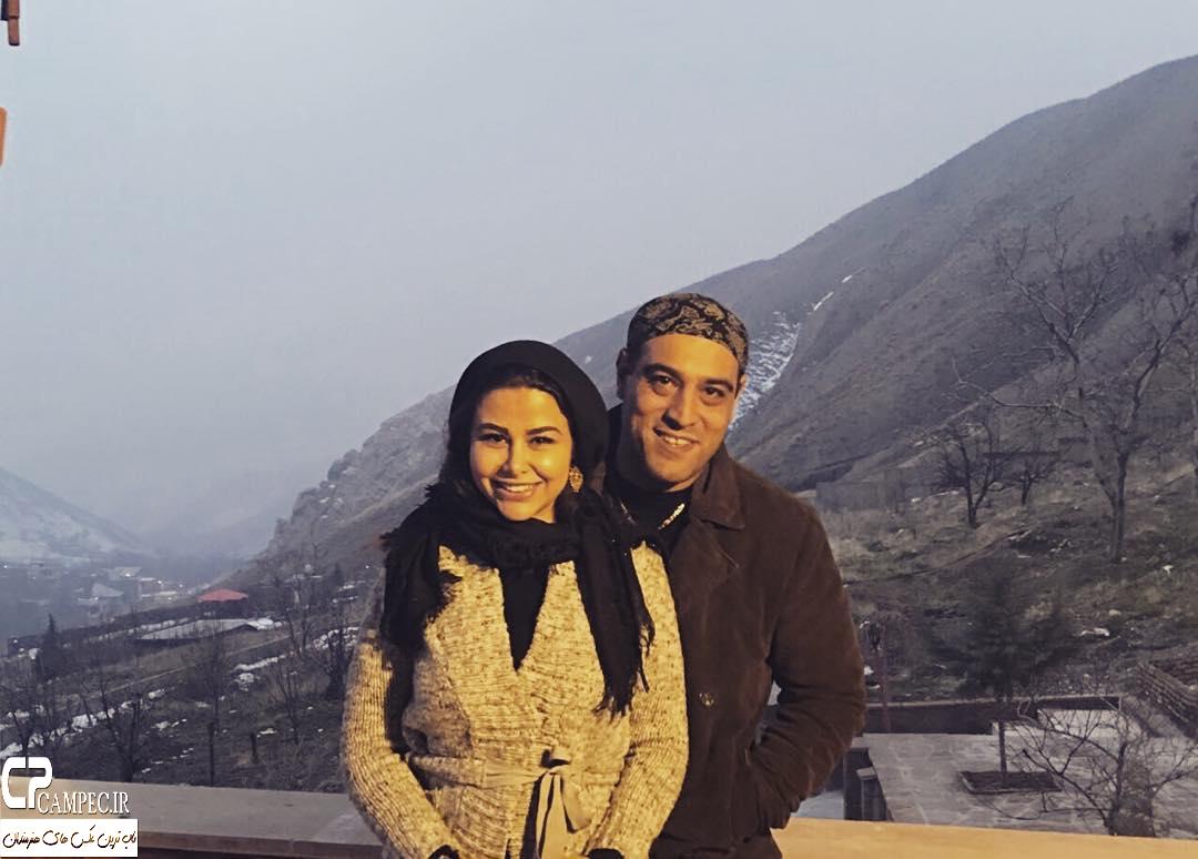 عکس جدید یاسمینا باهر با همسرش امیریل ارجمند زمستان 94