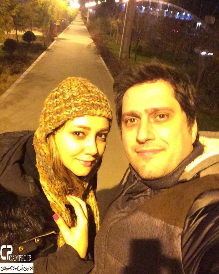 عکس شخصی ناهید سیف الله پور و همسرش زمستان 94