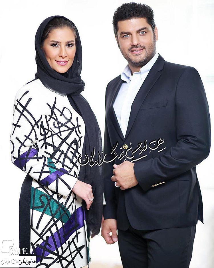 عکس آتلیه سام درخشانی با همسرش