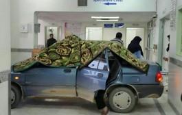 زایمان زن یزدی در پراید /عکس